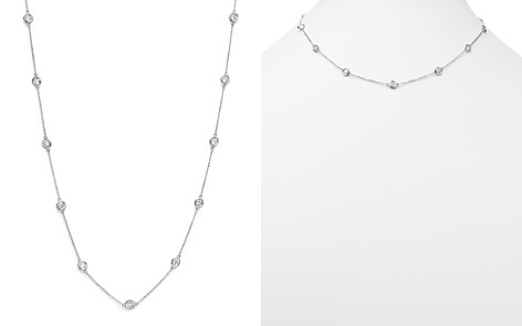 Diamond Station Necklace in 14K White Gold, 2.60 ct. t.w. - 100% Exclusive - Bloomingdale's_2